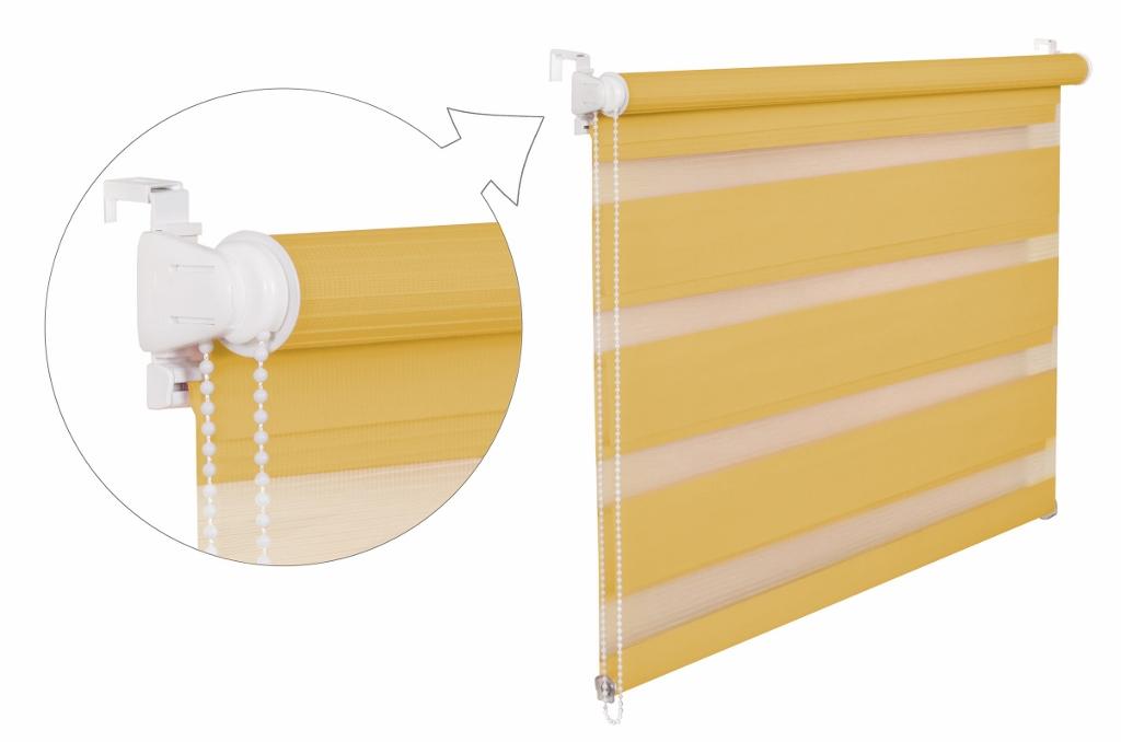 Roleta DEN A NOC / žlutá / BH 31 Barva mechanizmu: bílá, Výška: 150, Šířka: 82