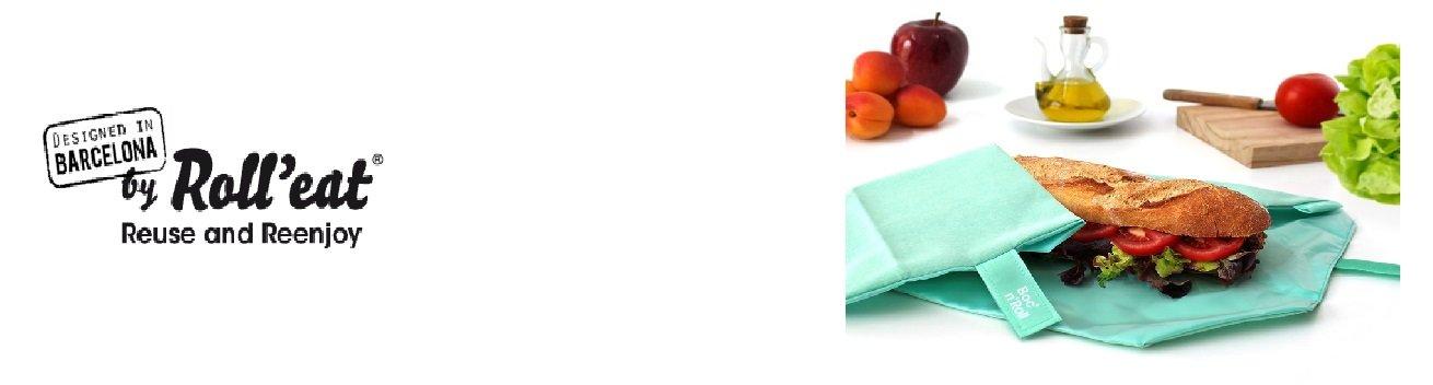 RollEat - opakovaně použitelné látkové ubrousky / kapsičky na svačinu