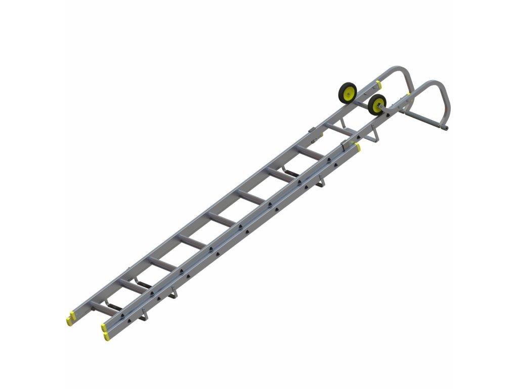 Dvoudílný střešní žebřík - 3,20m složený