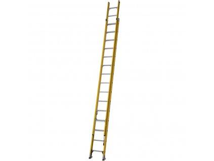 Sklolaminátový výsuvný žebřík s lanem 4,5m Werner