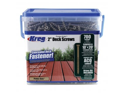 KREG® VRUTY PRO TERASY 51mm, ocel s povrchovou úpravou Protec Kote™