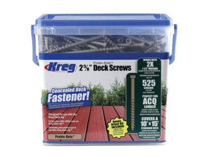 KREG® VRUTY PRO TERASY 525ks 67mm, ocel s povrchovou úpravou Protec Kote™