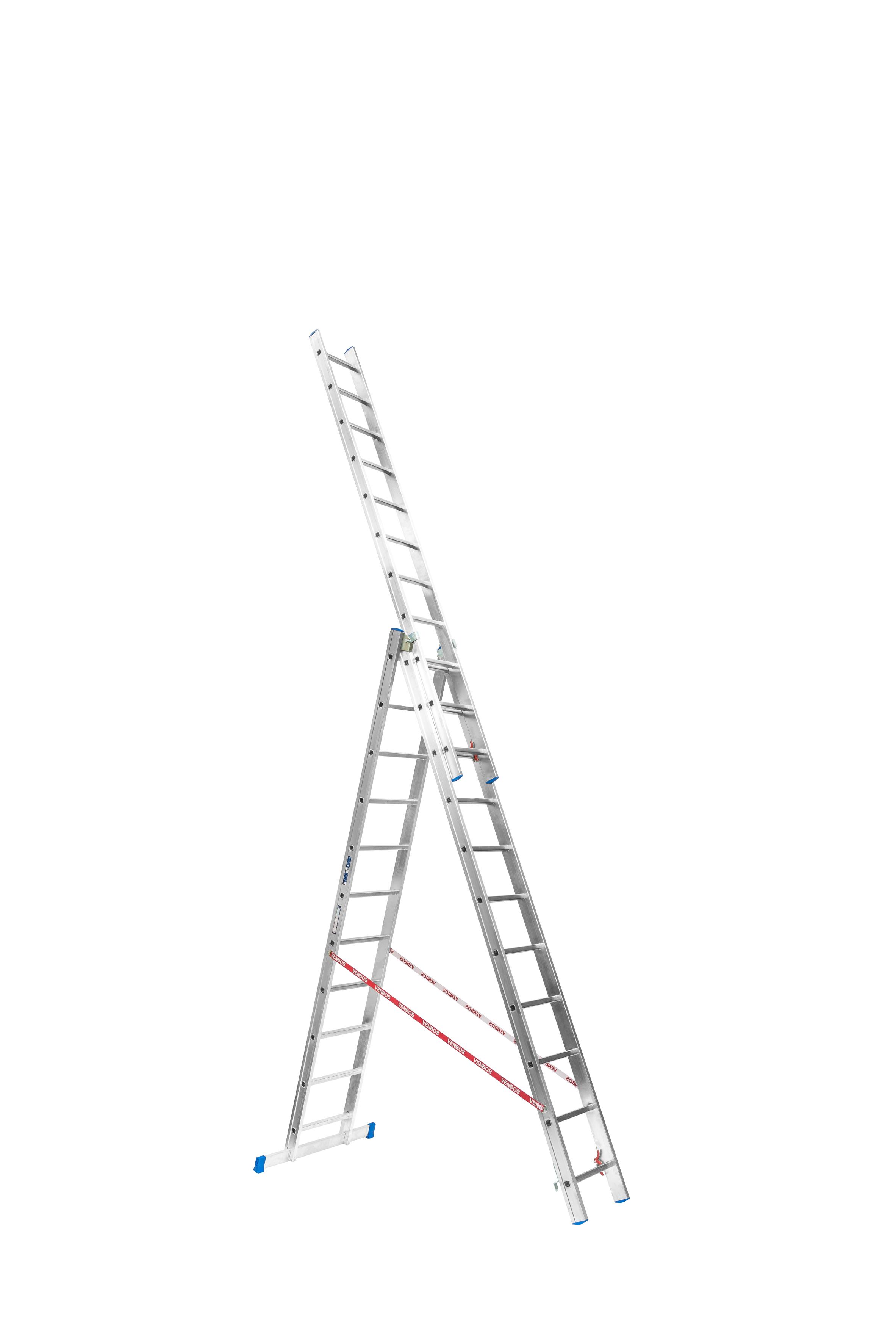 Trojdílný žebřík VENBOS PROFI 3811 3x11