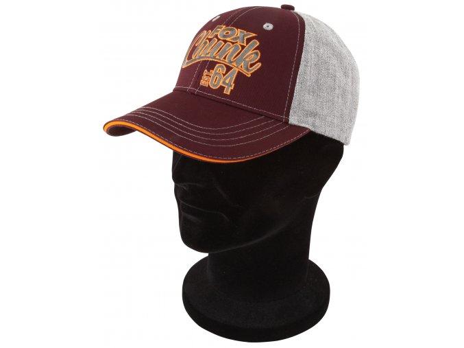 Fox Kšiltovka Chunk grey/burgundy/orange baseball cap