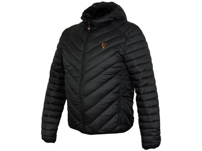 ccl145 150 fox collection puffa jacket black orange angled