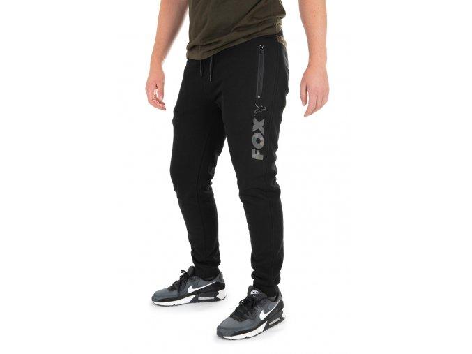 black camo logo joggers front