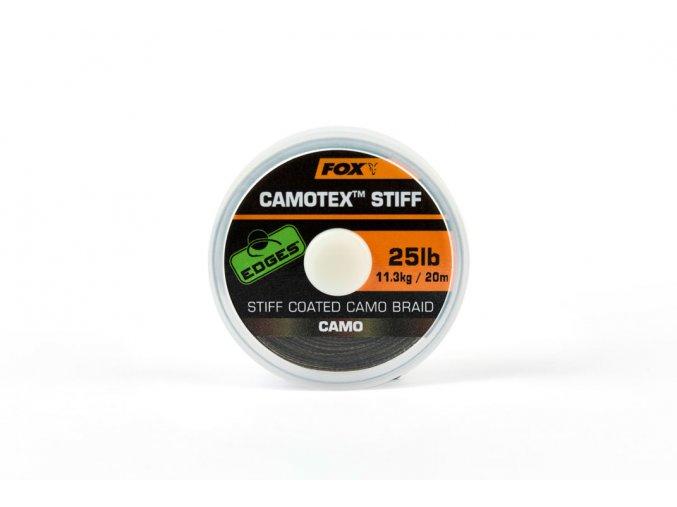 Fox ztužená šňůrka Camotex Stiff Coated Camo Braid 20m