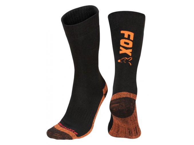 cfw117 cfw116 thermolite socks black orange pair