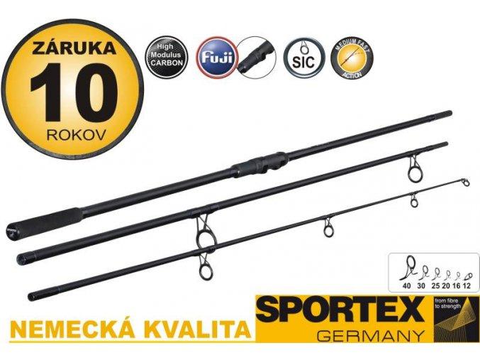 Sportex pruty COMPETITION Carp 12ft 3lb - třídílný