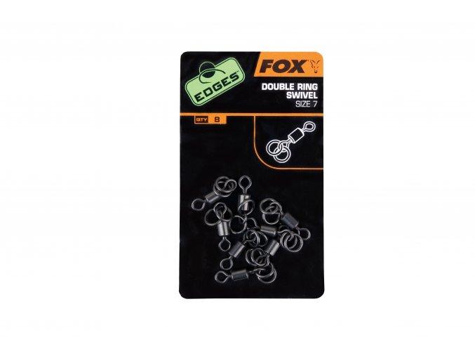 Fox Obratlíky s dvěma kroužky Edges Double Ring Swivel 8ks