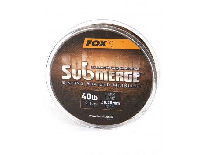 Fox Pletená šňůra Submerge Dark Camo Sinking Braid