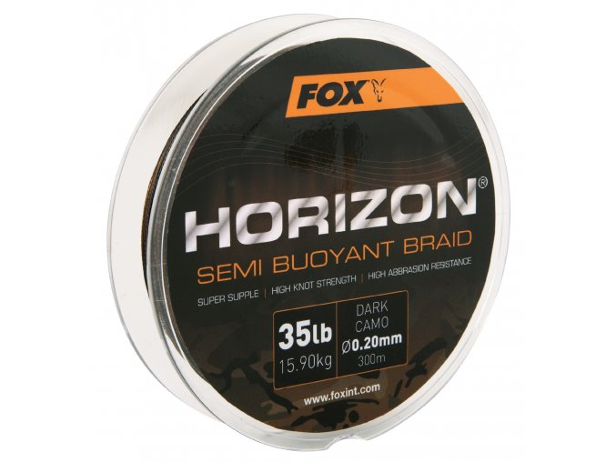Fox Pletená šňůra Horizon Semi Buoyant Braid Camo 300m