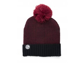 Burgundy Black Bobble CPR763 flat