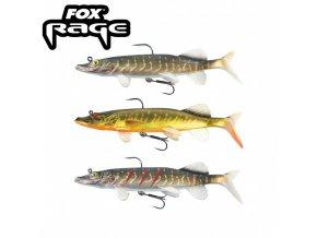 gumova nastraha fox rage replicant realistic pike 20cm 100gr original