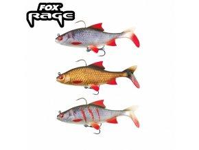 gumova nastraha fox rage replicant realistic roach 14cm 45gr super natural roach original