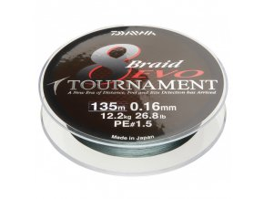 daiwa tournament 8 braid evo tmavo zelena