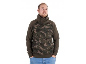 khaki camo high neck front