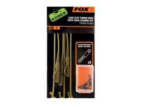 Fox Hotové montáže Lead Clip Tubing 3ks