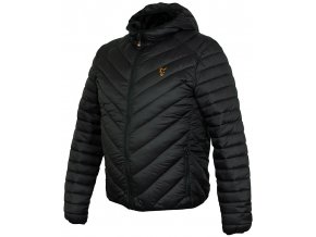 ccl145 150 fox collection puffa jacket black orange angled
