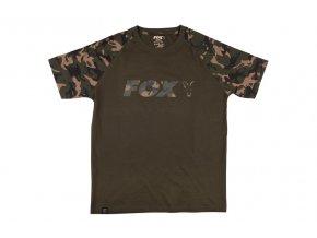 cfx019 fox khaki camo raglan t shirt flat