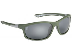 csn044 fox collection green silver frame grey lense