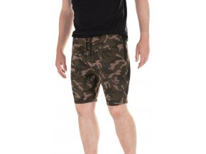 camo jogger shorts front