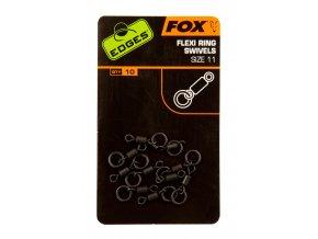 Fox Obratlíky s kroužkem Edges Flexi Ring Swivel 10ks