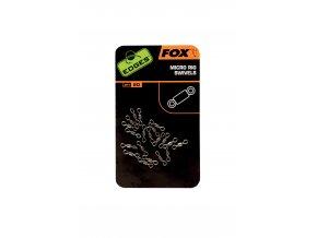 Fox Malé obratlíky Edges Micro Rig Swivels 20ks