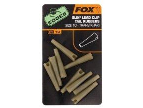 Fox Převleky na závěsky na olovo Edges Slik Lead Clip Tail Rubber