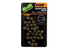 Fox Gumové korálky Edges Tapered Bore Beads 6mm 30ks