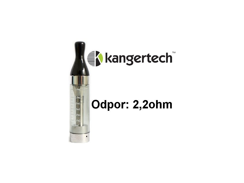 Kangertech CC/T2 clearomizer 2,4ml 2,2ohm Black