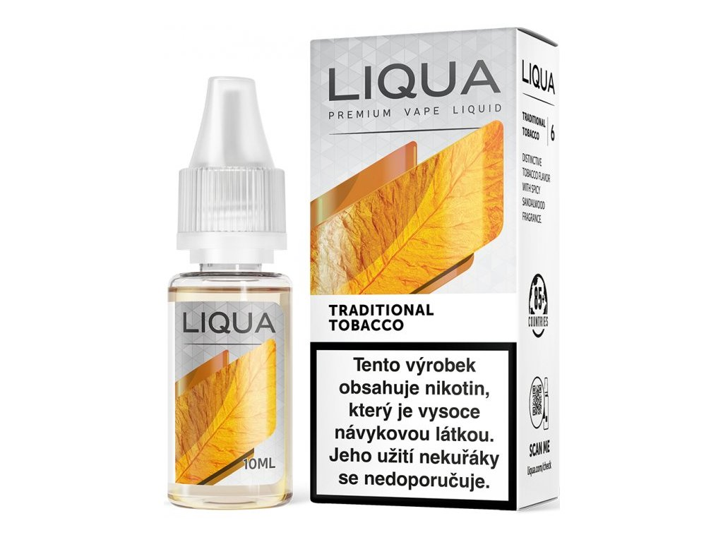 Liquid LIQUA CZ Elements Traditional Tobacco 10ml-12mg (Tradiční tabák)