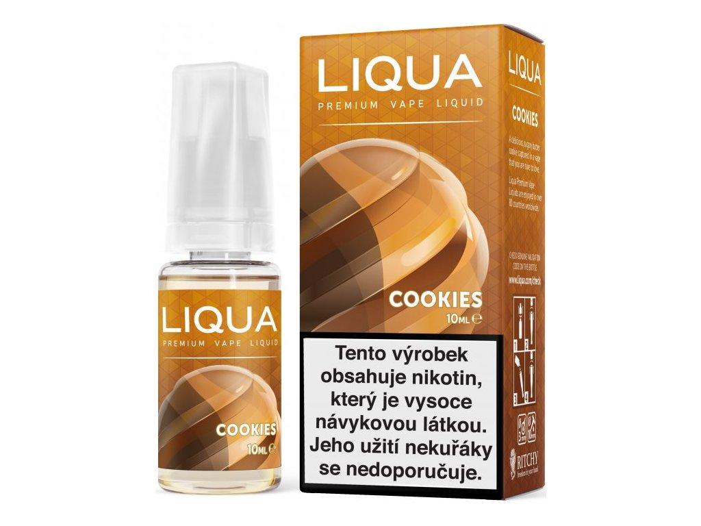 Liquid LIQUA CZ Elements Cookies 10ml-6mg (Sušenka)