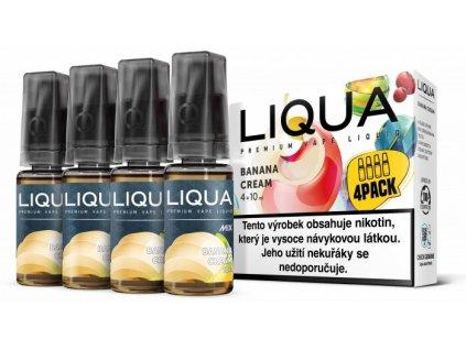Liquid LIQUA CZ MIX 4Pack Banana Cream 10ml-6mg