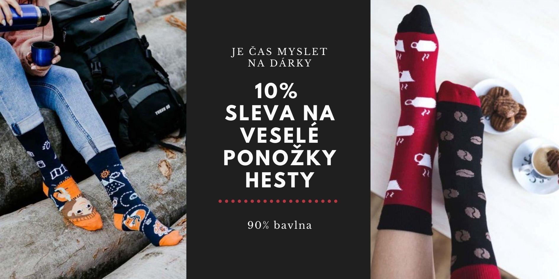 10% sleva na veselé ponožky HESTY