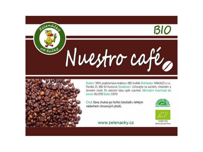 Nuestro café BIO - Zelenáčky