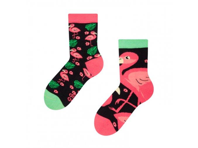 Dětské veselé ponožky Plameňáci