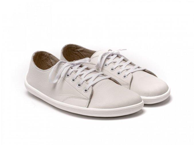 Celokožené barefoot tenisky Be Lenka Prime - White | Zelenáčky
