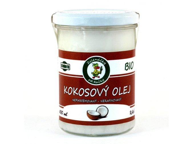 Panenský za studena lisovaný kokosový olej BIO - Zelenáčky