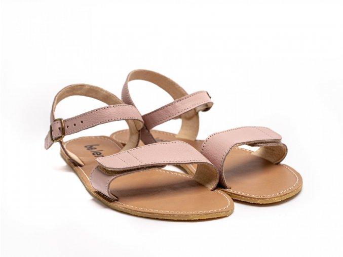 Stylové barefoot kožené sandálky Be Lenka Grace - Rose   Zelenáčky