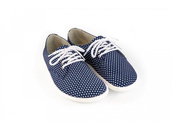 Barefootová módní obuv Be Lenka City - Dark Blue with Dots | Zelenáčky