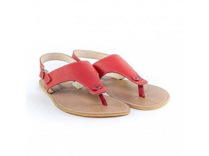 Barefoot sandály Be Lenka Promenade - Red | Zelenáčky