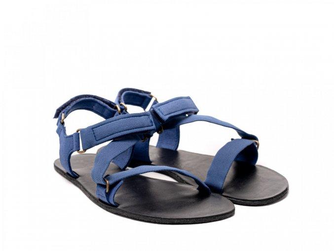 Stylové barefoot textilní sandály Be Lenka Flexi - Blue | Zelenáčky