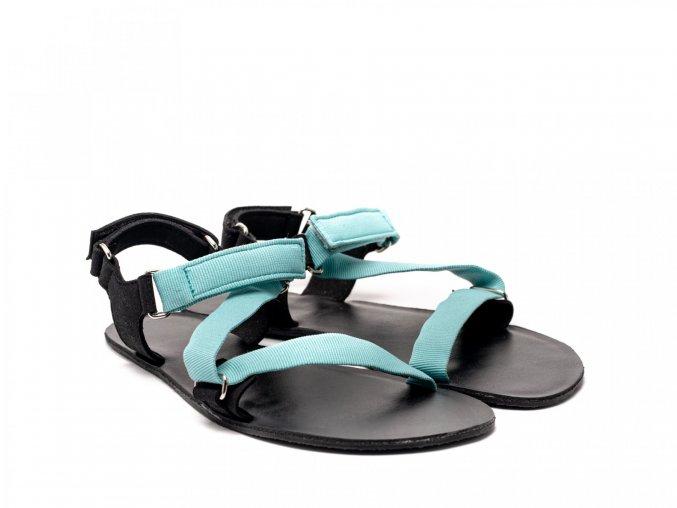 Stylové barefoot textilní sandály Be Lenka Flexi - Tyrkys | Zelenáčky
