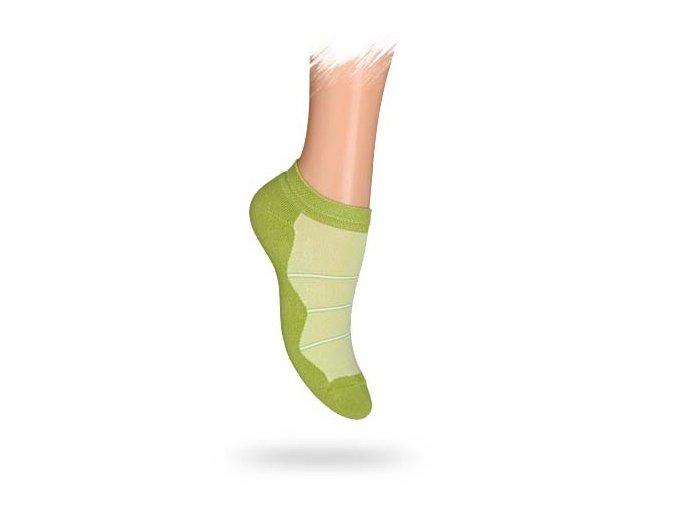 Dětské kotníkové ponožky Wola zelené