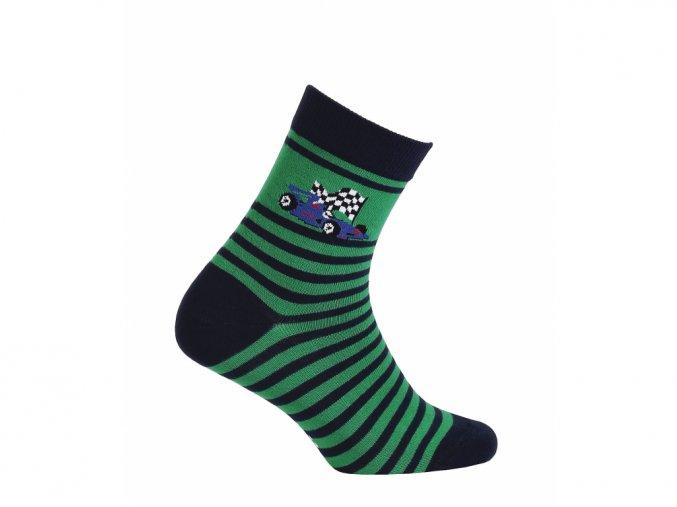 Dětské ponožky Wola Formule zelené