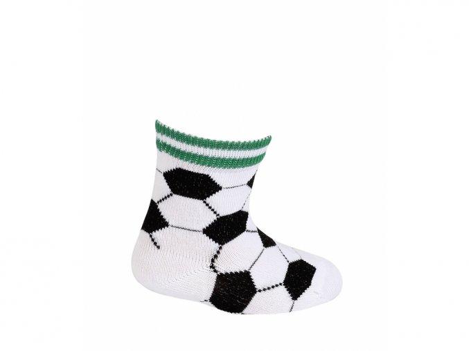 Dětské ponožky Wola Fotbalové míče bílé