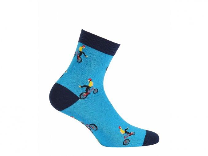 Dětské ponožky Wola Kolo modré