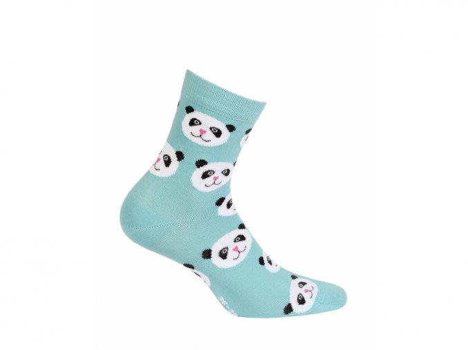 Dětské ponožky Wola Pandy tyrkysové