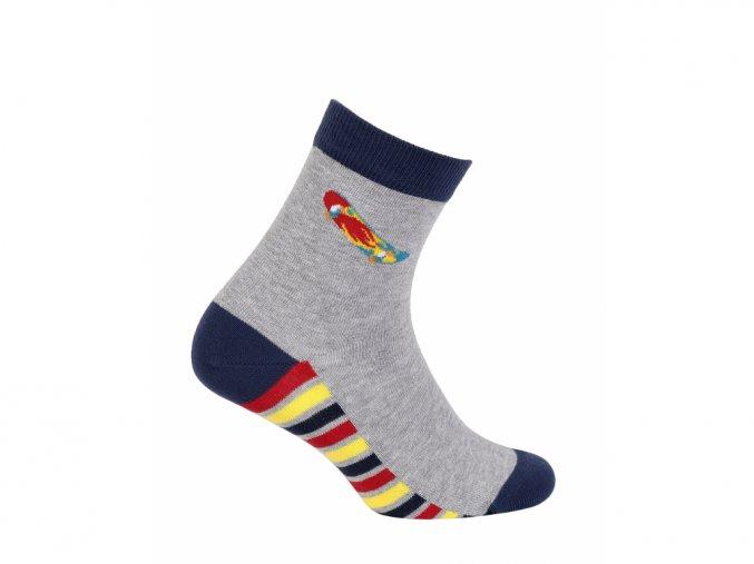 Dětské ponožky Wola Skateboard šedé